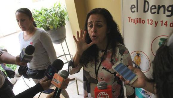 Ministra Patricia García llegó a Trujillo. (ALAN BENITES)