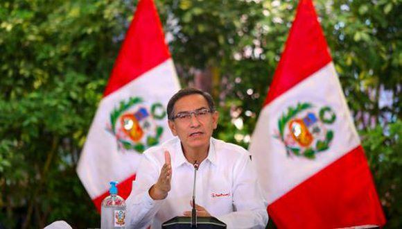 Martín Vizcarra ofrece nuevo pronunciamiento. (PCM)