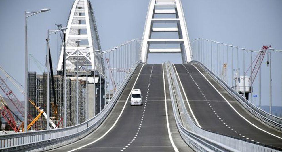Debido a su longitud, este puente es el más largo de Europa. Las obras comenzaron el 2016 y su construcción tuvo un costo de US$ 3.600 millones. (Foto: AFP)