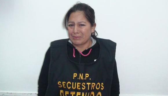 Maritza Mallqui Gavilán fue capturada por la Policía. (USI)