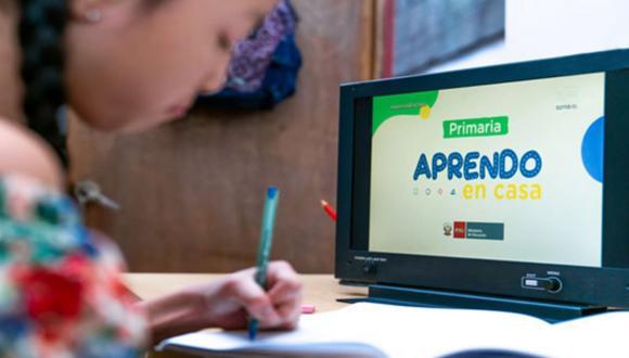 Respecto a la entrega de tablets para los alumnos, el ministro de Educación dijo que ya se tiene el 70 % de los dispositivos en los almacenes del Minedu. Foto: Andina