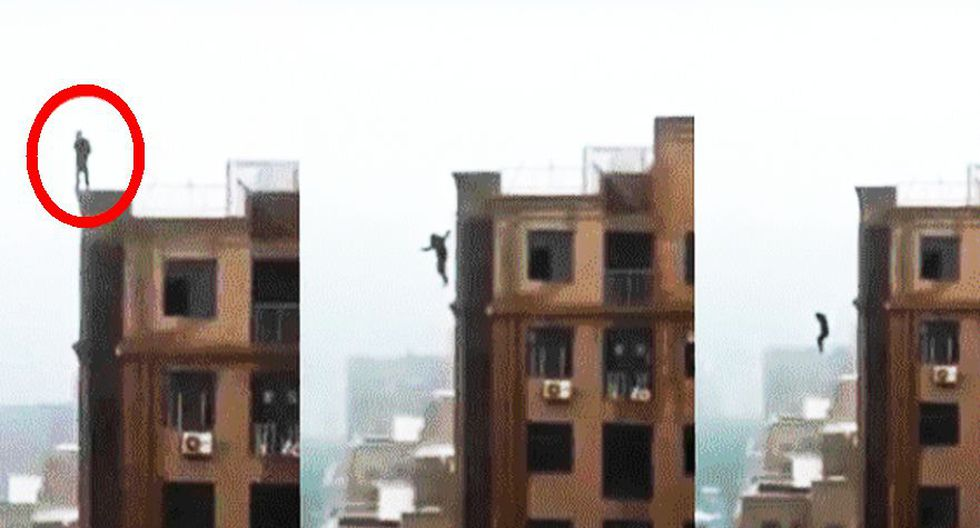 India: Hombre cae del último piso de un edificio cuando intentaba tomarse un selfie. [VIDEO]
