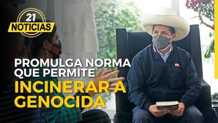 Pedro Castillo promulga norma que permite incinerar a genocida Guzmán