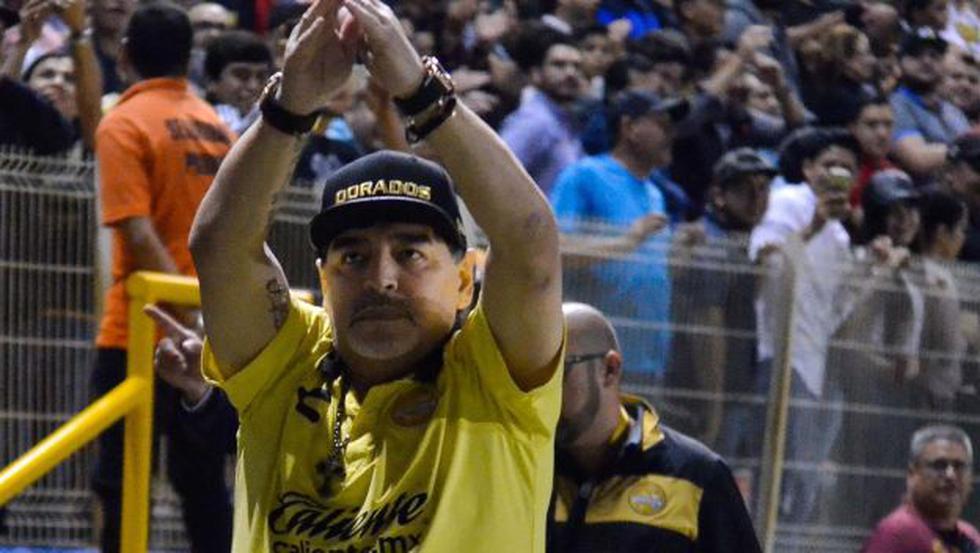 Diego Maradona es entrenador de Dorados desde septiembre del año pasado. (Foto: Dorados de Sinaloa)