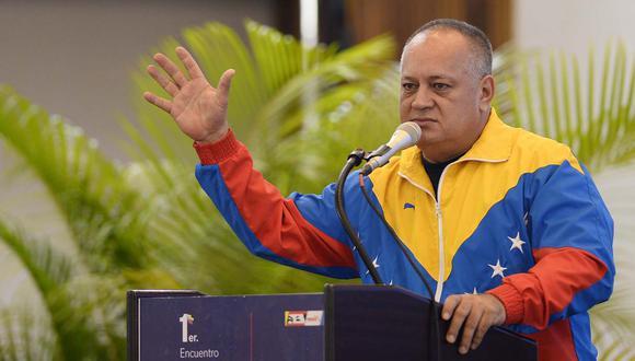 """Diosdado Cabello dijo que por culpa del conflicto en Colombia, Venezuela recibió """"más de cinco millones de hermanos colombianos"""". (Foto: AFP)"""