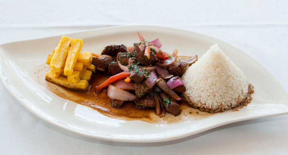 El lomo saltado es uno de los platos más representativos de la gastronomía peruana