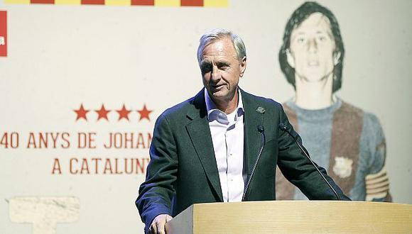 Johan Cruyff se siente apenado con la situación actual del Barcelona. (EFE)