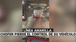 Línea Amarilla: conductor pierde control de su camión y estuvo apunto de provocar un accidente