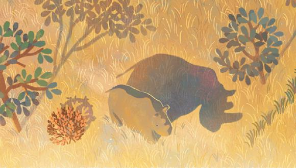 El doodle de hoy recuerda a Sudán, el último rinoceronte blanco macho del norte. (Foto: Google)