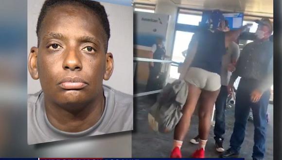 Mujer golpea a trabajadora de aerolínea por no dejarla viajar sin mascarilla. (Foto: Captura Fox News).