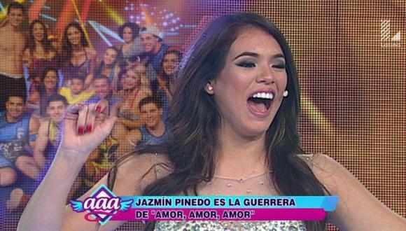 Jazmín Pinedo se presentó esta tarde en 'Amor, amor, amor'. (Captura de TV)