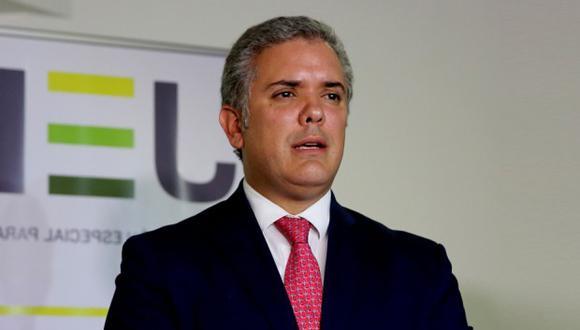 Iván Duque sostendrán una audiencia privada en el despacho del presidente del Congreso, Daniel Salaverry. (Foto: EFE)