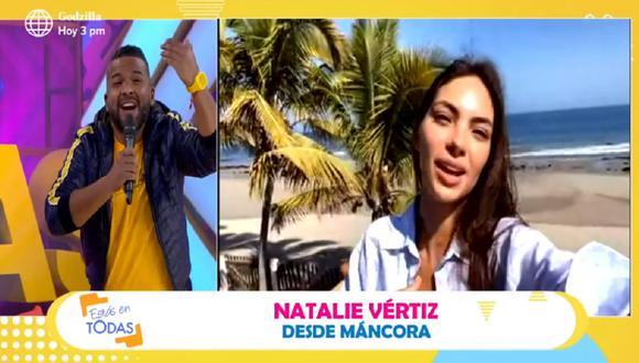 """Natalie Vértiz se ausenta de """"Estás en todas"""" a un mes de su ingreso al programa sabatino. (Foto: Captura América TV)"""