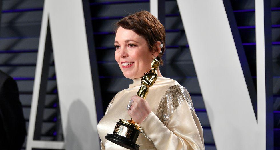 Olivia Colman se hizo con su primera premio Oscar. La actriz de 45 años se mostró más que emocionada. (Foto: AFP)