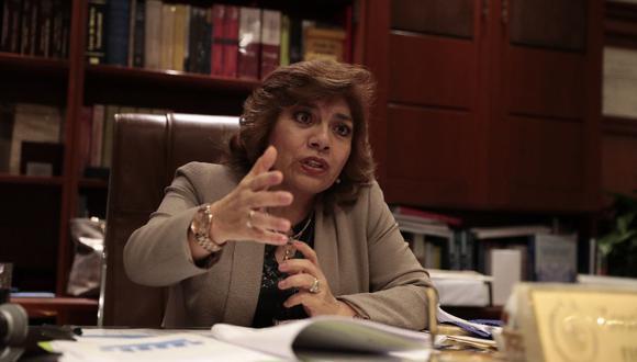 La fiscal de la Nación, Zoraida Ávalos, suscribió la resolución que designa a Horagio Eguren en el cargo. (GEC)