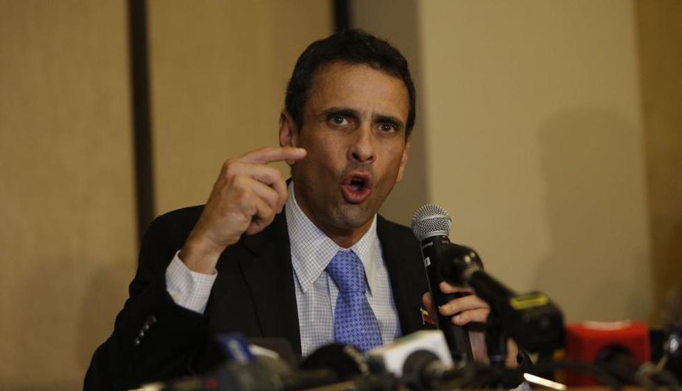"""Henrique Capriles: """"Ollanta Humala salió del gobierno por la puerta de atrás"""". (Anthony Niño de Guzmán)"""