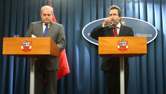 Pedro Cateriano y Juan Jiménez hablaron con jueza. (USI)