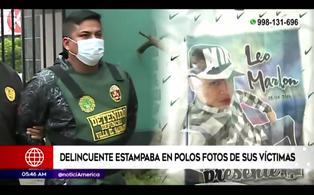 PNP captura a peligroso delincuente que estampaba rostro de sus victimas en polos