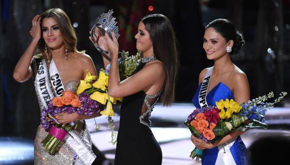 Miss Universo Pia Alonzo no está dispuesta a compartir su reinado con Miss Colombia Ariadna Gutiérrez. (AFP)