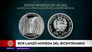 BCR emite moneda de plata alusiva al Bicentenario del Perú