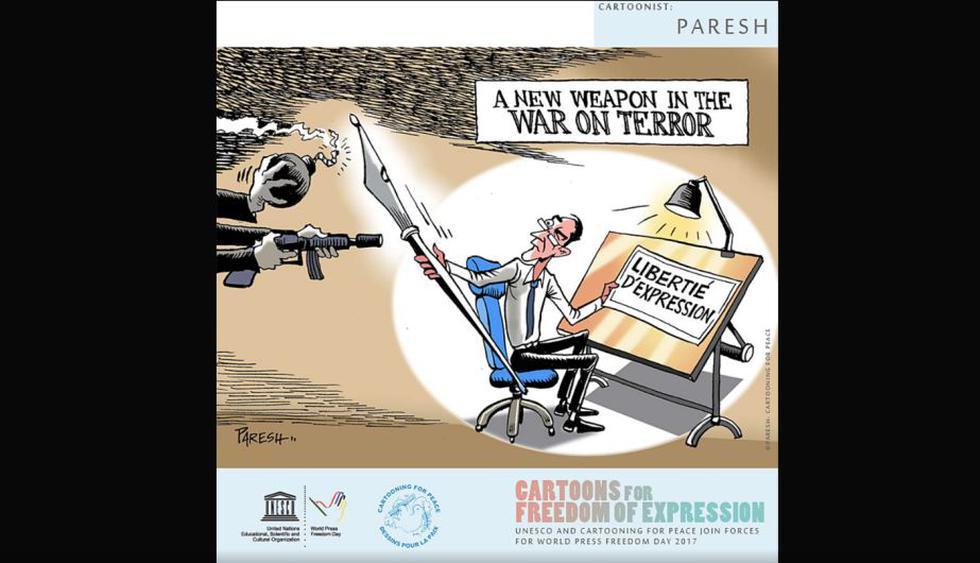 """""""Una nueva arma en la guerra del terror"""" (Paresh)"""
