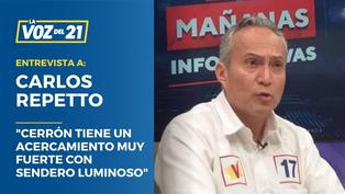 """Carlos Repetto: """"Cerrón tiene un acercamiento muy fuerte con Sendero Luminoso"""""""