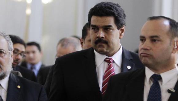 Maduro en Palacio de Gobierno paraguayo en el día de los hechos. (Reuters)