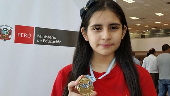 Escolar peruana ganó medalla de oro en competencia internacional de matemática. (Minedu)