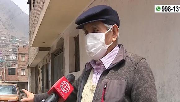 Juan Yapias de 83 años fue víctima de la delincuencia en Comas. (Captura: América Noticias)