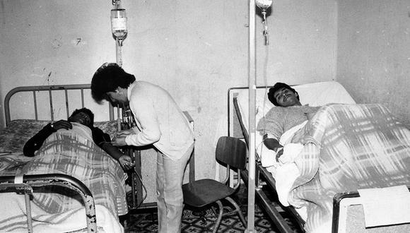 El 'cólera' de entonces. GERARDO SAMANAMUD/ EL COMERCIO