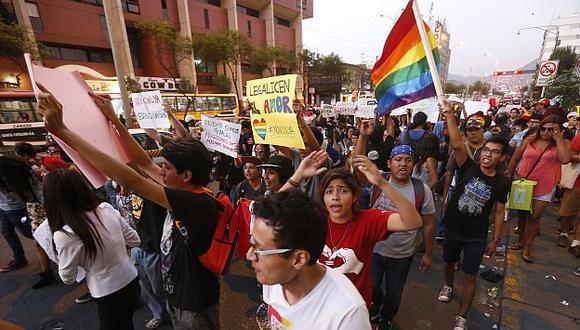 En los últimos días los colectivos gay han mostrado su rechazo contra el archivamiento de la Unión Civil. (Percy Ramirez)