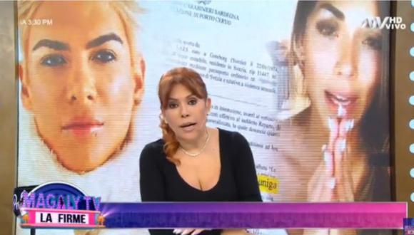 Magaly Medina conversó con Fiorella Alzamora y su esposo sobre la denuncia contra el 'Zorro' Zupe. (Foto: Captura de video)
