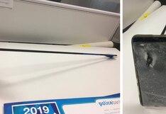 Se salvó de morir en ataque con arco y flecha gracias a su smartphone