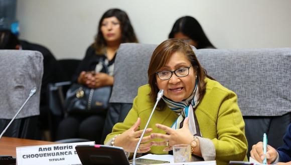 La congresista Ana María Choquehuanca señaló que el Parlamento está en la capacidad de sacar adelante la reforma política. (Foto: Congreso)
