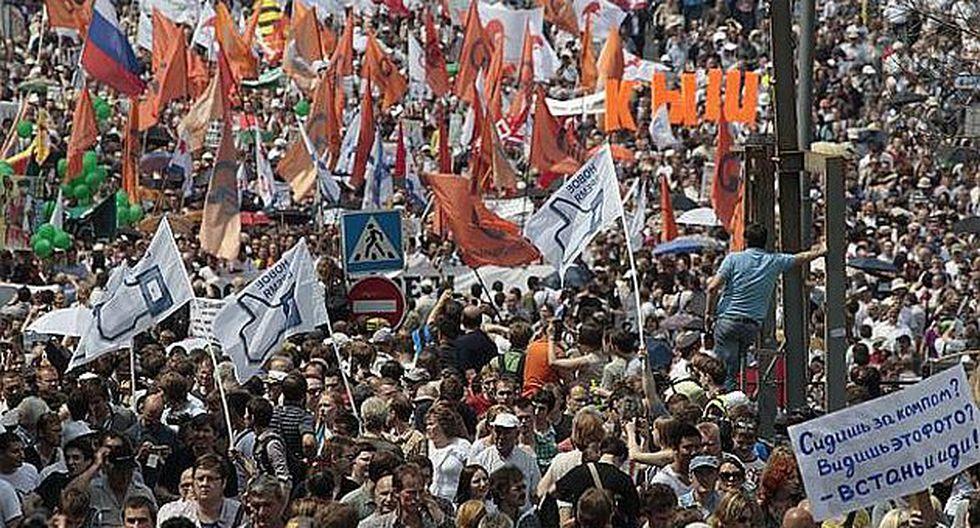 Manifestación en mayo de 2012 fue masiva. (Internet)