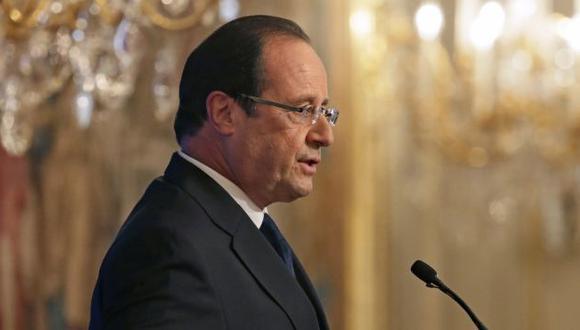 François Hollande durante su discurso de hoy, en el que tocó el tema de Siria. (AP)