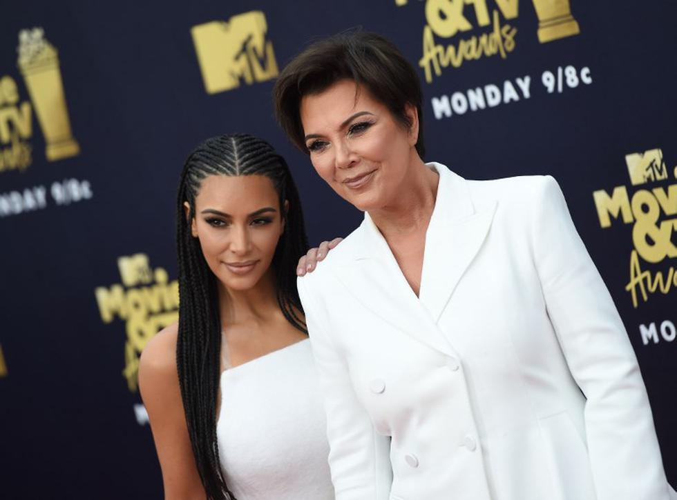 Kris Jenner y Kim Kardashian | Foto: AFP