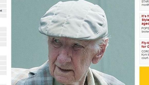 Descubierto. Laszlo Csatary, de 97 años, retratado por The Sun. (The Sun)