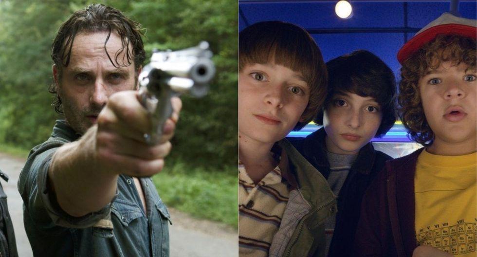The Walking Dead y Stranger Things fueron las series más solicitadas del 2018. (Foto: AMC/ Netflix)
