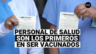 Personal son los primeros en ser vacunados