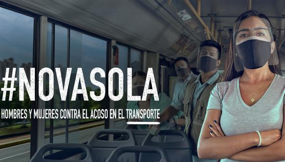 La campaña consiste en la implementación de mensajes en los medios de transporte dirigido a las usuarias y usuarios, así como la difusión de mensajes en las redes sociales oficiales del MTC y de influenciadores con el hashtag #NoVaSola. (Foto: Ministerio de Transportes y Comunicaciones)