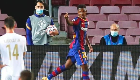 Ansu Fati da un paso más en su compromiso con Barcelona. (Foto: Reuters)
