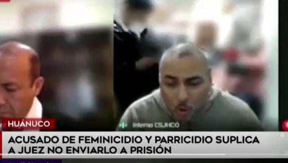 Presunto homicida de su pareja e hija de 4 años lloró y rogó ante juez para no ir a prisión en Huánuco