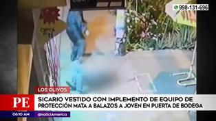 Los Olivos: presunto sicario asesina a balazos a un joven en la puerta de una bodega