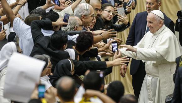 """El papa insistió que en """"podemos y debemos hacerlo mejor con los desvalidos. Y para ello hay que pasar a la acción, de modo que desaparezca totalmente el flagelo del hambre"""". (Foto: EFE)"""