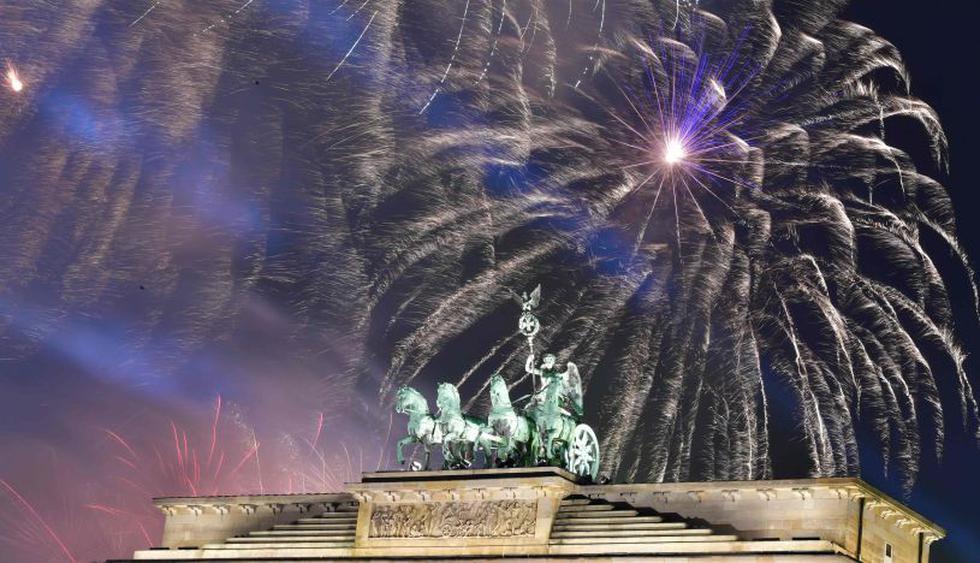 Berlín recibió así el Año Nuevo 2019. (Foto: AFP).