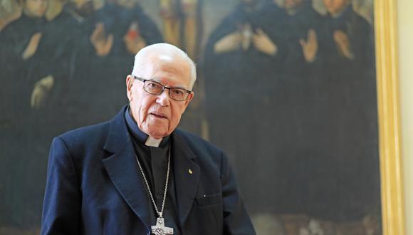 """Padre Rafael Fernández Hart: """"Monseñor Bambarén fue el obispo de los pobres"""".  FOTO:  DANTE PIAGGIO D / EL COMERCIO"""