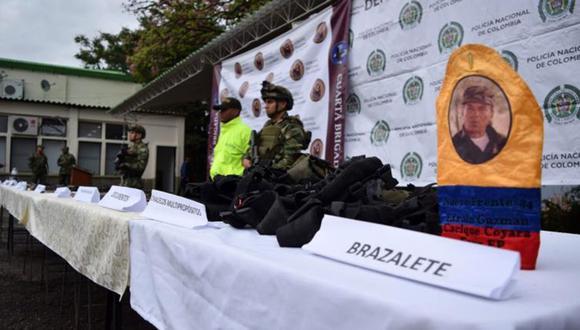 El ejército de Colombia provocó dos bajas en el grupo disidente de las FARC e incautó una importante cantidad de armamento. (Foto: Facebook Ejército Nacional de Colombia)