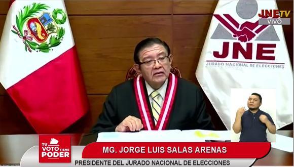 Jorge Luis Salas Arenas aseguró que en otros países de la región las labores sobre indagación respecto a falsedades y omisiones dolosas en las declaraciones de las hojas de vida son materia de conocimiento del Ministerio Público. (Foto: JNE)