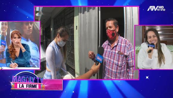 Padre de Jossmery Toledo declaró para las cámaras de Magaly Medina y se refirió a Jean Deza. (Foto: Captura Magaly TV: La Firme)